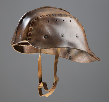 Leather Tank Crew Helmet