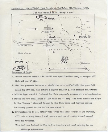 First offical tank trial plan