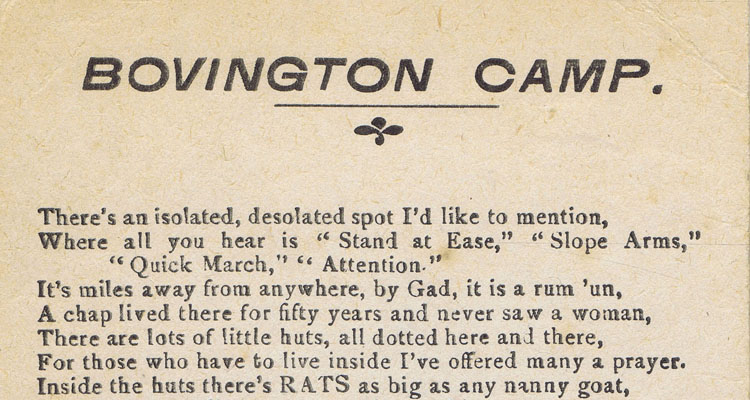 Bovington Camp Header