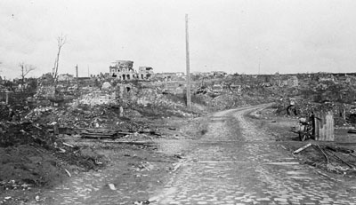 The effects of the war on Fampoux, near Arras.