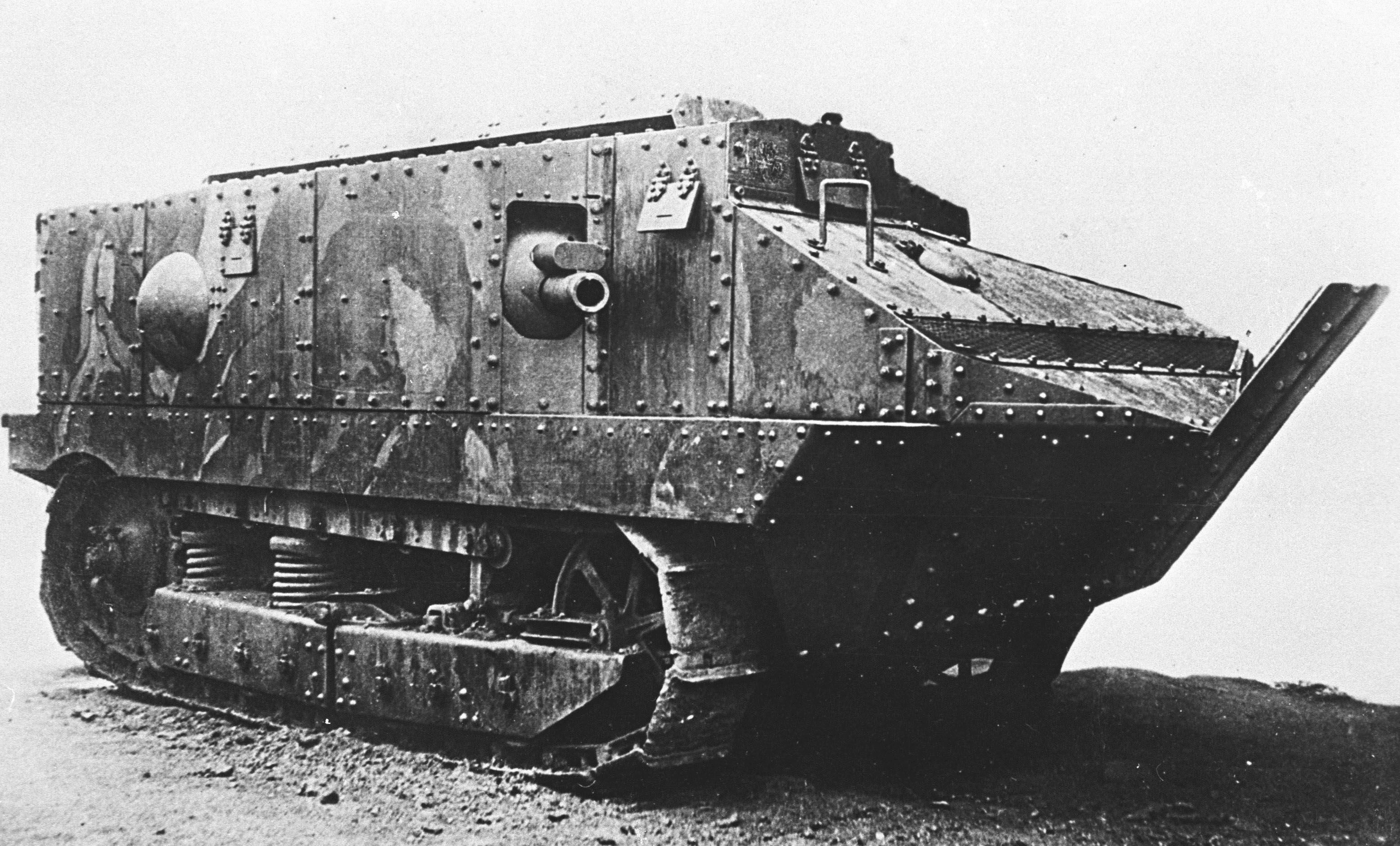 The first tanks of the First World War. Breakthrough in the technical equipment of the armies 46