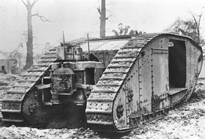 The Mark II tank, fitted with the Williams-Janney hydraulic system that took part in the Oldbury Trials in March 1917.