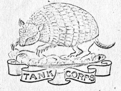The second symbolically represented the armoured hide of the tank, using either the rhino or the armadillo.