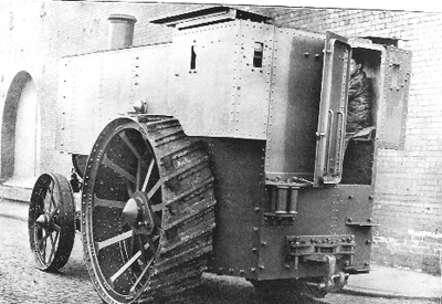 The armoured traction engine