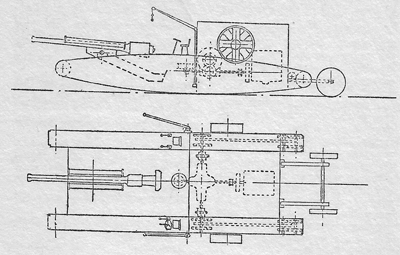 Drawing of the Oldbury Trials gun carrier machine, from the programme. Is this what the prototype looked like?