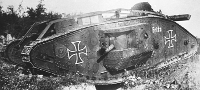 Captured tank camouflage