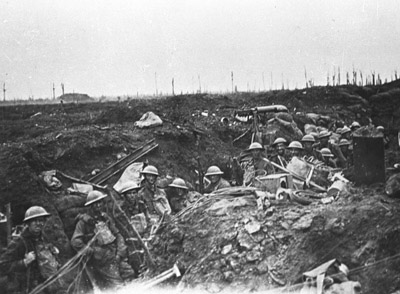 Infantrymen at Ypres. This had been a costly campaign that achieved limited gains.