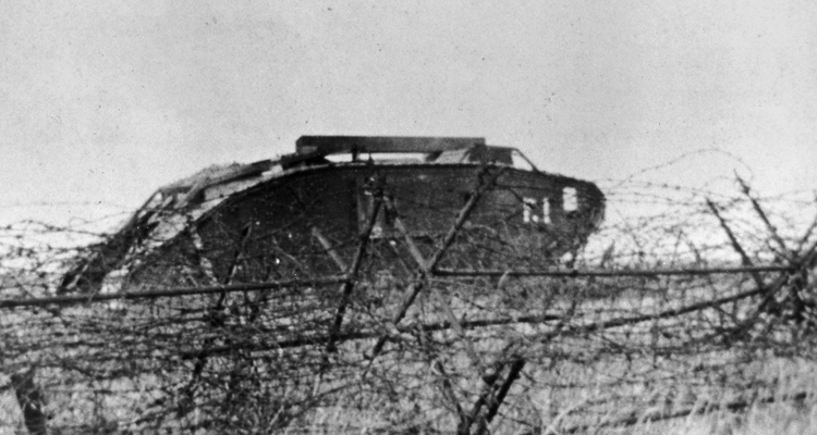 cambrai tank barbed wire