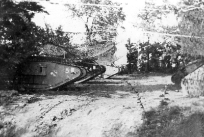 Camouflaged tanks Cambrai