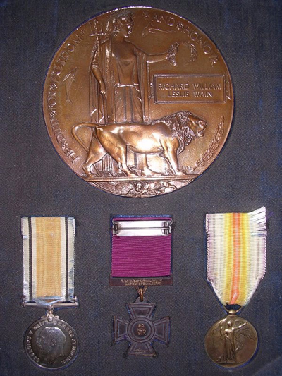 Captain Wain's medals.
