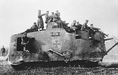 A7V with crew.