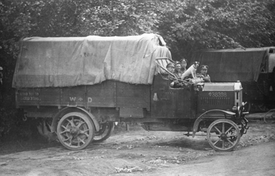 A 3-ton lorry. By 1918 the BEF's logistic network was increasingly mechanised.