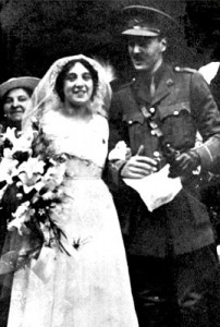 Rose and Basil Henriques on their wedding day, shortly before his deployment to France.