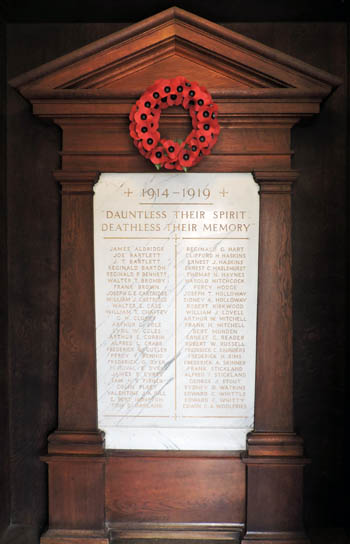 First World War Memorial featuring Cyril Coles