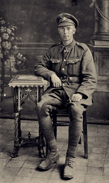 William Taylor Dawson as a newly recruited tank soldier