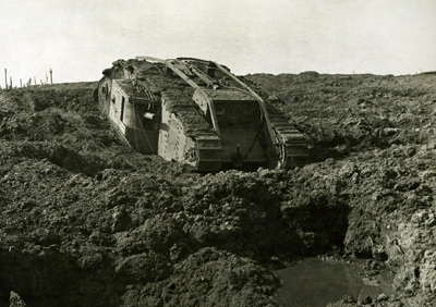 The mud and water at 'Clapham Junction' claimed many tanks at Third Ypres.