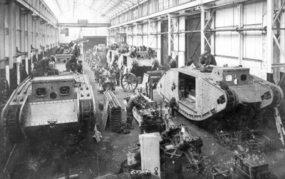 Building the Mark IV tank Fosters