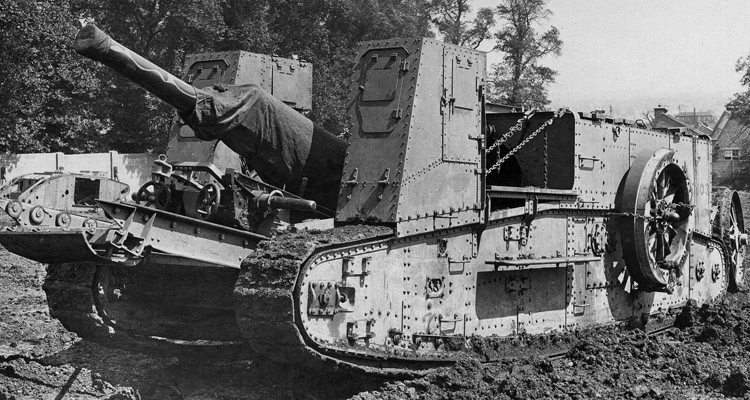 Gun carrier machine with a 60 pounder gun