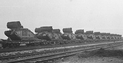C Battalion tanks at Plateau, on or around the 16th.