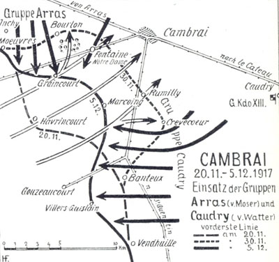 Cambrai Battle Lines, 20 November, 30 November & 5 December.