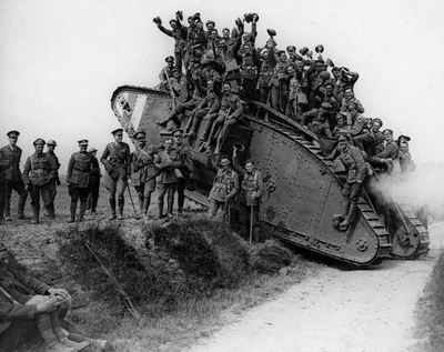 British soldiers tank First World War