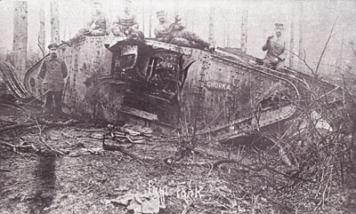 Mark IV female Ghurka, captured in Bourlon Wood, 20 November 1917.