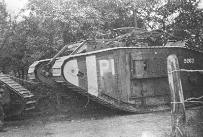 Mark V 9263, manned by crew P1 of the 16th Battalion.