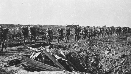The Western Front in January 1918