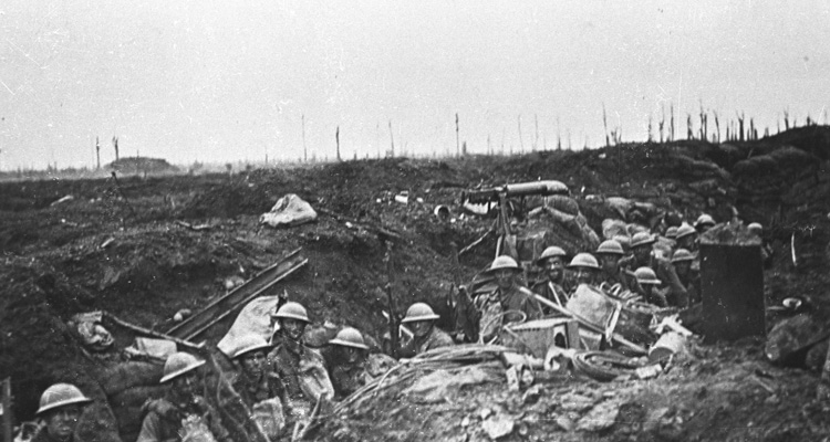 Infantry in trench