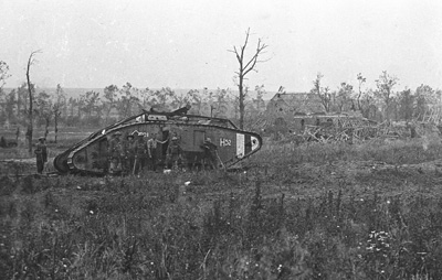Tank H52, knocked out during the battle.