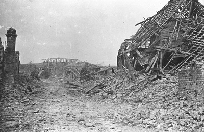 A Mark V in Hamel after the battle.