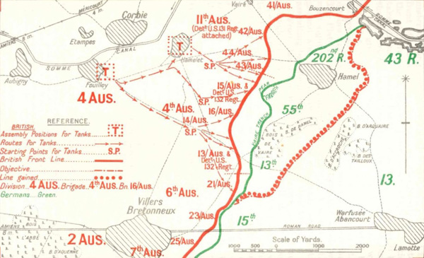 The extent of the Australian advance.