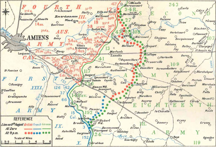 The Allied advance on the 8th August